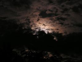 Cloudy Night Sky... by dig-undeground
