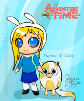 Fionna and Cake by sharleneyap
