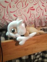 Laying Cubone Plush by Vulpes-Canis