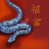 The year of the water snake 2013 by Be-Lyle