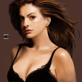 Anne Hathaway (photo study) by novaillusion