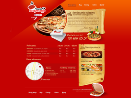 Pizza Bronowianka website by lukearoo