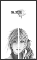 Final Fantasy 13 Poster Feat Lightning and Serah by Lil-Lintu