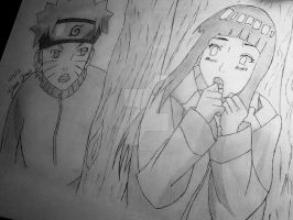 Naruto and Hinata :3 by UnpleasantNightmare