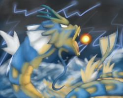 Raging Gyarados-Hyper Beam by Shinkou-san