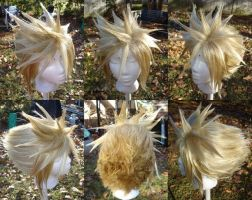 Cloud Strife wig by invader-gir