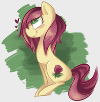 MLP: Rose doodle by TheKnysh