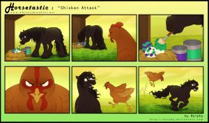 Horsetastic - Chicken Attack by DolphyDolphiana