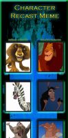 character recast meme Madagascar part 1 by thearist2013
