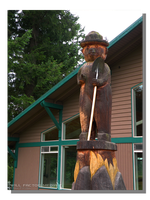 Smoky the Bear Wood Carving by WillFactorMedia