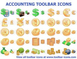Accounting Toolbar Icons by Ikonod