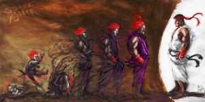 Evolution Of Akuma by Brainiday