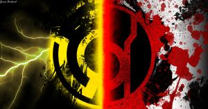 Red Lantern Corps Vs Sinestro Corps by dadio46