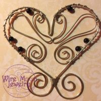 Butterfly Wired My Heart by WireMoonJewelry