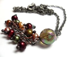 Fae Ball in Autumn Necklace by sojourncuriosities