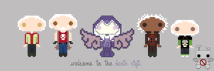 Chibi Death Vigil Group by norobotstudios