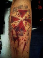 My Umbrella Corporation Tattoo by CocoDeathMetaller