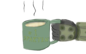 Even Spartans Need Coffee by Nejarius