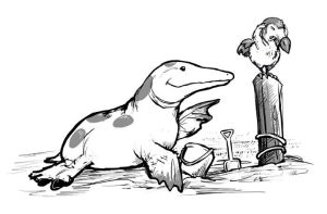 Ambulocetus vs. Dodo by ursulav