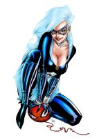 Black Cat   Inks By J Skipper-Colored by royhobbitz