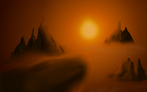 Creapy Mountains BG by 1nightrider