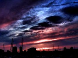 Sky and boats by inafas