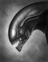 My Version of Giger's Alien by Ston3D2K