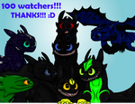 100+ watchers!!! Thanks!!! (Read dis.) by XxLunaWarriorxX
