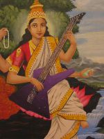 Rock Saraswati by Art-fire