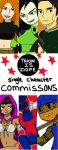 Single Character Commissions by OUC