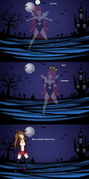 Vanil encounters the blood-haired ghost by Chrismh
