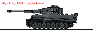 Sd.kfz. 181 Tiger I Ausf. E (Early Production) by thesketchydude13