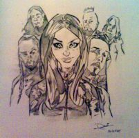 Lacuna Coil in cartoon by Devilicious-Pink