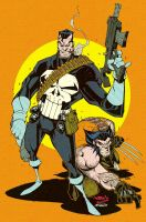 Punisher + Wolvie :: Colours by thatron