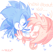 tell Sonic dat you think he's HAWWWWT by chibiirose