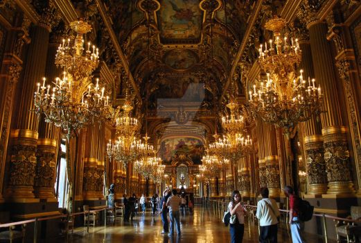 Paris Opera Foyer by Lady-Vetinari