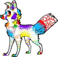 Colorful Canine Auction-CLOSED by Wolfies--Adopts