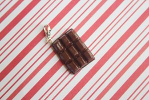 polymer clay chocolate bar by l337Jacqui