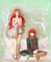 Poppet and Widget by criissa