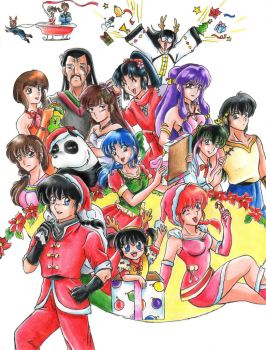 Happy Ranma X-MAS by ranmaonehalf