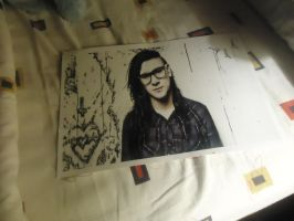 My poster of Skrillex by amy291000