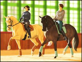 :Morning Dressage Ensemble: by NimbyNimb