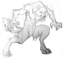 Old random werewolf sketch by J-C