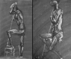 some life drawings by CrucioCurse