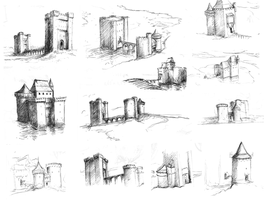 sketch batch 02 Castle madness by woutart
