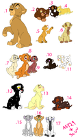 Lion cub adoptables OPEN 2 points!!!! by AdoptShop429