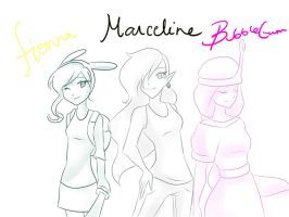 Three maidens of Adventure by ficakes911