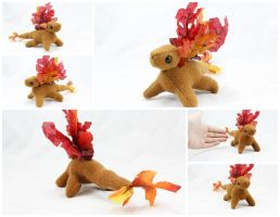 Autumn Leaves Dragon Beanie by BeeZee-Art