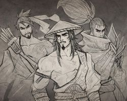 Hanzo Susano and Yasuo by karulox