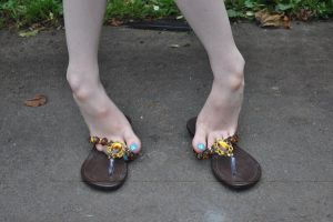 Pretty Feet Pretty Flip Flops by Foxy-Feet